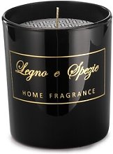 Shiny Glass Spice Wood Scented Jar Candle The
