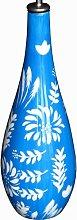 Shiny, lacquered porcelain ceramic oil bottle,
