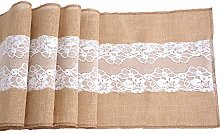 ShinyBeauty Burlap Table Runner Hessian Table