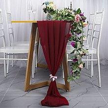 ShinyBeauty Chiffon Table Runner Burgundy 29x120