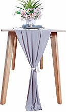 ShinyBeauty Chiffon-Table-Runner Gray 29x120 Inch