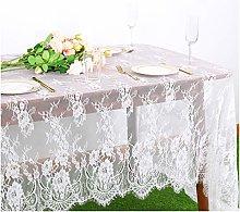 ShinyBeauty Lace Tablecloth White Lace Fabric