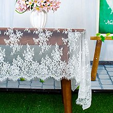 ShinyBeauty Lace-Tablecloth White