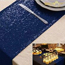 ShinyBeauty Navy Blue Sequin Table