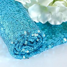 ShinyBeauty Sequin Fabric Turquoise Fabric Sequin