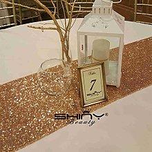 ShinyBeauty Sequin Table Cloth Champagne 14x90