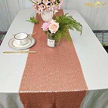 ShinyBeauty Sequin Table Runner-Blush Sequin