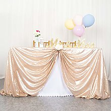 ShinyBeauty Shining Champagne-Sequin Tablecloth