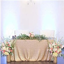ShinyBeauty Silver Sequin Tablecloth Sequin Table