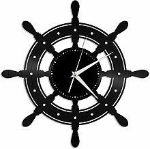 Ship (i) vinyl wall clock, vinyl record home