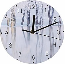 Shipenophy Wall Clock Low Noise Household for