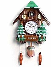 ShiSyan Wall Clock Large Size Wood Cuckoo Clock