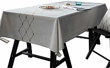 SHJMANJZ Embroidery Waterproof Tablecloth Cotton