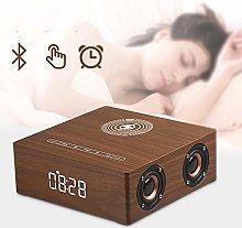 SHJMANPA Alarm Clock Bedside FM Radio Non Ticking