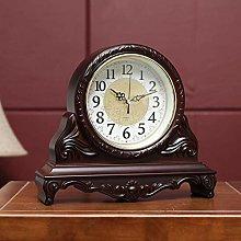 SHJMANPA Mantel Clock, Silent Decorative Wood