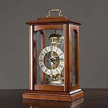 SHJMANPA Mantel Clock with Real Wood, Antique
