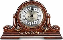 SHJMANPA Mantel Clock, Wooden Mantle Clock Large