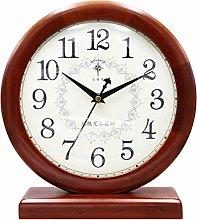 SHJMANPA Mantel Clocks, Silent Wood Mantle Clock