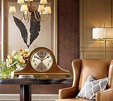 SHJMANPA Mantel Clocks Wood Mantle Clock with