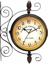 SHJMANPA Outdoor Clocks, Classical Double-sided