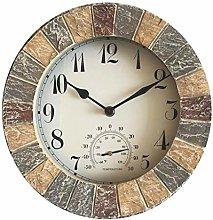 SHJMANPA Retro Wall Clock, Resin Wall Clock,