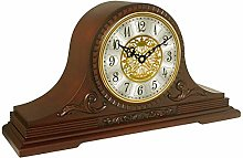 SHJMANPA Wood Mantle Clock with Chime This Solid