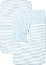 Shnuggle Air Crib Bedding - Blue