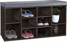 Shoe Bench Cabinet Storage Rack Footwear Hallway