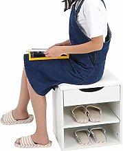 Shoe Bench, Multi-Functional 2 Tiers Shoe Storage