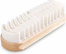 Shoe Brush Leather Suede Hard-Wearing White Rubber