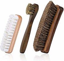 Shoe Brush Set,3 Pcs Premium Soft Shoe Brush