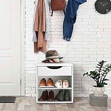 Shoe Cabinet 3-Tier Modern Wooden Shoe Storage