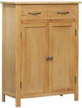 Shoe Cabinet 76x37x105 cm Solid Oak Wood - Brown -