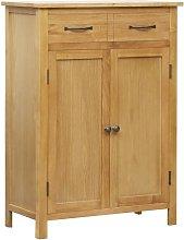 Shoe Cabinet 76x37x105 cm Solid Oak Wood - Hommoo