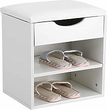 Shoe Cabinet Bench Shoe Rack with Cushions Home