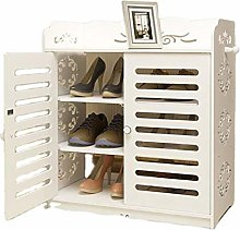 Shoe Cabinet Portable Storage System with