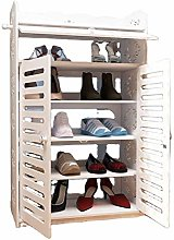 Shoe Cabinet Portable Storage System with Doors