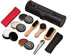 Shoe Care Kit Travel Shoes Shine Brush Polish Kit