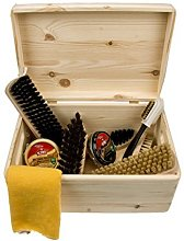 Shoe Care Pinewood Box -Verona- with kiwi shoe