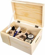 Shoe cleaning kit – Verona natural pine wood