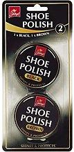 shoe polish 1/black 1/brown
