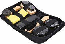 Shoe Polish Kit Cleaning Shine Care Barrel Set For