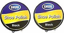 Shoe Polish Tin Black 2pk