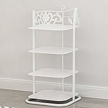 Shoe Rack 4Tiers,Living Room Simple Mini Metal