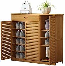 Shoe rack Solid Wood 6 Tier Storage Shelves Bamboo