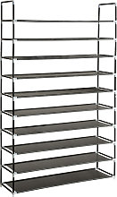 Shoe rack with 10 shelves - black