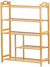 Shoe Shelf Rack 5-Layer Storage Rack Bamboo Solid