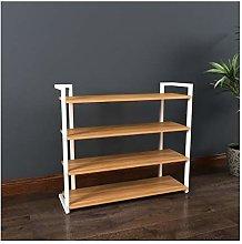 Shoe Shelf Simple Assembly 4 Tiers Board Shoe Rack