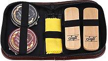 Shoe Shine Care Kit - Neutral Polish Brushes,