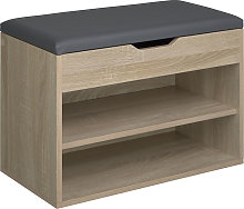 Shoe storage bench Jasmina with 2 shelves and